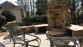 Backyard Fireplace and Patio, Very Cool!