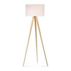 Superior MOD   Maya Tripod Floor Lamp, White And Light Oak   Floor Lamps. SALE. Houzz  Exclusive