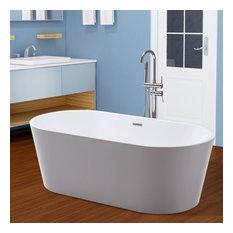 Vanity Art Freestanding Acrylic Bathtub, Large