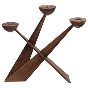 Caravel Candelabra, Walnut