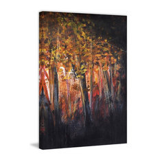 """""""Trees to Right"""" Painting Print on Wrapped Canvas, 20""""x30"""""""