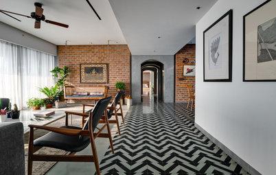India Houzz Tour: Vogue Meets Village in a Couple's Apartment