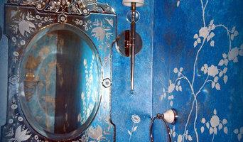 Blue powder room