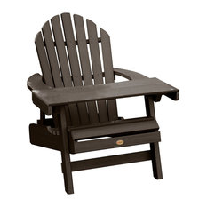 Hamilton Adirondack Chair and Laptop Table Set, Weathered Acorn