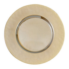 Turkish Glass Plates, Luster Gold