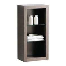 Gray Oak Bathroom Linen Cabinet, Gray