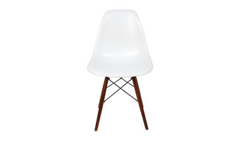 Eames inspired walnut DSW chair