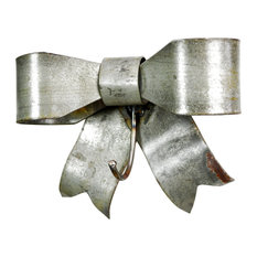 """Wine Country Craftsman - Wine Barrel Ring Bow Stocking Holder """"Totini"""", Made From Retired Wine Barrel Rin - Holiday Decorations"""