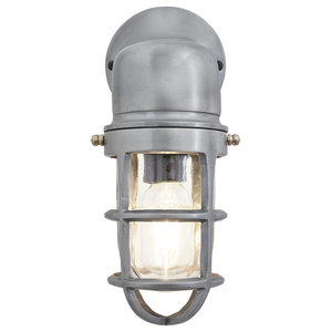 Bulkhead Outdoor & Bathroom Sconce Wall Light - 12 Inch, Gunmetal