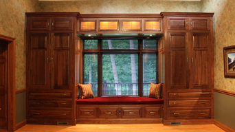 Built in Parlor cabinets