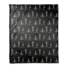 "Yoga Skeletons 50""x60"" Fleece Blanket"