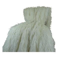 Plutus Mongolian Faux Fur Throw Blanket, 60x90
