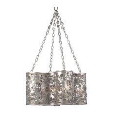 Kalco Ophelia 8-Light Chandelier, Antique Silver