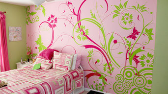 Girly Bedroom with Accent Wall