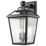 Z-LITE - Z-LITE 539B-BK 3 Light Outdoor Wall Light - Z-LITE 539B-BK 3 Light Outdoor Wall Light, BlackThe Bayland family features clear seedy glass set against its black colored frame. The multi stepped top crowns this elegant fixture. The fixtures are constructed high quality cast aluminum. Collection: BaylandFrame Finish: BlackFrame Material: AluminumShade Finish/Color: Clear SeedyShade Material: GlassDimension(in): 13.13(L) x 11(W) x 20.13(H)Bulb: (3)60W Candelabra base,Dimmable(Not Included)UL Classification/Application: CUL/cETLu/Wet