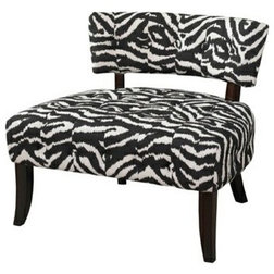 Marvelous Contemporary Armchairs And Accent Chairs Lady Slipper Zebra Print Accent Chair