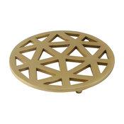 Geometric Cut Aluminum Trivet With Gold Finish