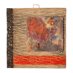 """Raphael Handmade Clay And Copper Decorative Tile, 4"""""""