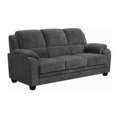 Coaster Fabric Sofa Charcoal