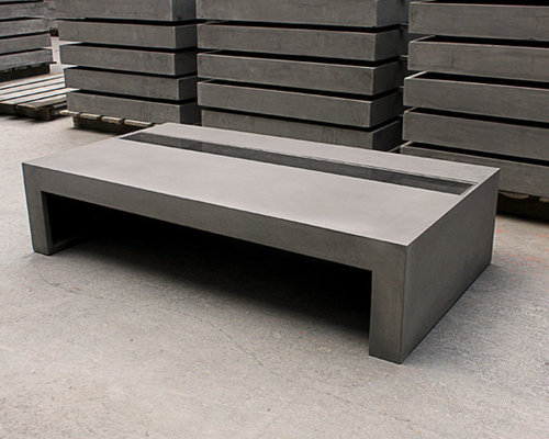 Table basse b ton jardin zen green zen concrete coffee table - Table basse beton ...