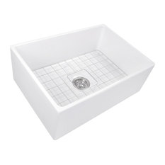 "Nantucket Sinks 27"" Farmhouse Fireclay Sink with Drain and Grid"