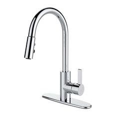Runfine Group   Runfine Single Handle, Pull Down Sprayer Kitchen Faucet,  Chrome