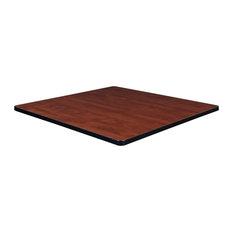 "42"" Square Laminate Table Top, Cherry/Maple"