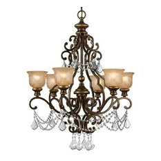 Crystorama Norwalk, 6-Light Chandelier, Clear Hand Cut Crystal