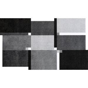 Living Squares Door Mat, Grey, 120x70 cm
