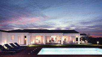 Zona outdoor con piscina