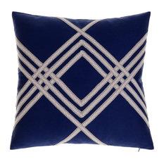 14 Karat Home Inc. - Sandy Throw Pillow, Indigo - Decorative Pillows