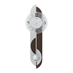 Alma Quartz Pendulum Wall Clock, Walnut
