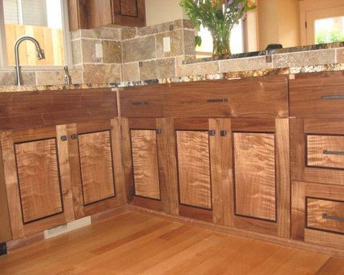Figured Walnut Cabinets Portland Oregon
