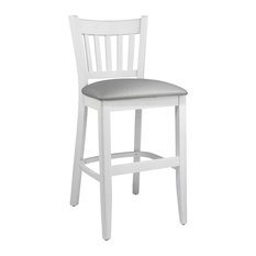 Vertical Counter Stool White