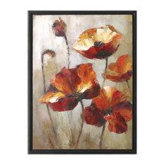 "Uttermost ""Window View"" Floral Art, 29""x39"""