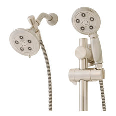 Alexandria Anystream Slide Bar Mounted 2-Way Shower System, Brushed Nickel