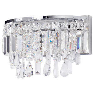 Marquis by Waterford, Bresna Bathroom Wall Light, Chrome
