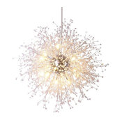 "16-Light LED Dandelion Chandelier By Morsale, 35"""