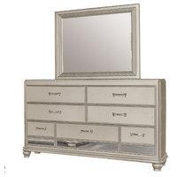 Brittany Bronze Dresser and Mirror, 2-Piece Set