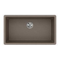 "Elkay ELGRU13322GR0 Quartz Classic 33""x18-7/16"", Undermount Sink, Greige"