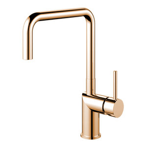 Rhythm Kitchen Mixer Tap, Square, Copper-Coloured Stainless Steel