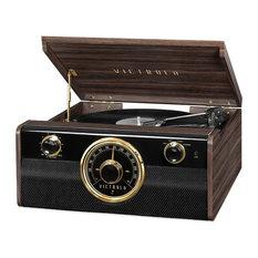 Victrola Wood Bluetooth Mid Century Record Player with 3-speed Turntable & Radio