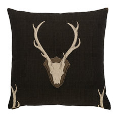 Canaan Company 24  x24   Accent Pillow, Uncle Buck Black