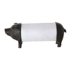 Creative Co-Op - Pig Metal Paper Towel Holder Black - Paper Towel Holders  sc 1 st  Houzz & 50 Most Popular Black Paper Towel Holders for 2018 | Houzz