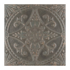 """SomerTile 13""""x13"""" Saja Ceramic Floor and Wall Tile, Case of 10, Charcoal"""