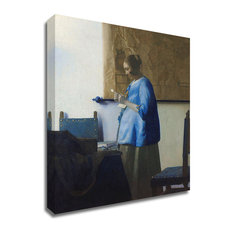Woman Reading a Letter by Johannes Vermeer, Print on Canvas, Ready to Hang