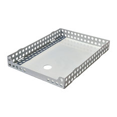 Oldschool Steel A4 Letter Tray, White