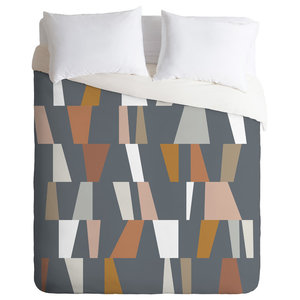 The Old Art Studio Neutral Geometric 02 Duvet Cover Set Contemporary Duvet Covers And Duvet Sets By Deny Designs Houzz