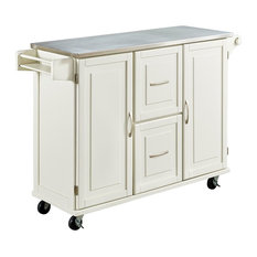 home styles furniture patriot kitchen cart white kitchen islands and kitchen carts - Kitchen Carts