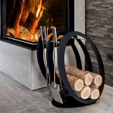 modernes kaminzubeh r. Black Bedroom Furniture Sets. Home Design Ideas
